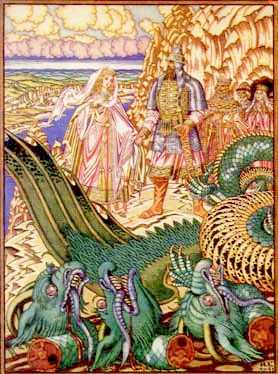 Dobrynja, the virgin and the dead dragon, 39 kb